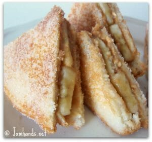 Fried Peanut Butter and Banana Sandwiches