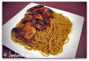 Funky Chicken and Sesame Noodles