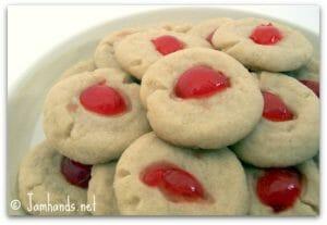 Cherry Shortbread Cookies