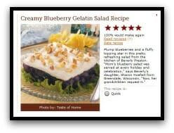 Blueberry Jell-O Salad