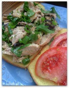 Barbecue Chicken Salad Sandwiches