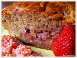 Strawberry Bread with Strawberry Butter