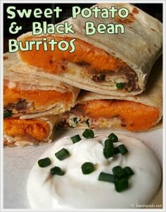Addicting Sweet Potato and Black Bean Freezer Burritos