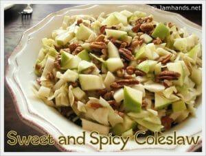 Sweet and Spicy Apple & Pecan Coleslaw