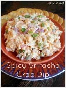 Spicy Sriracha Crab Dip