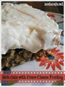 Date Cake with Cream Cheese Frosting