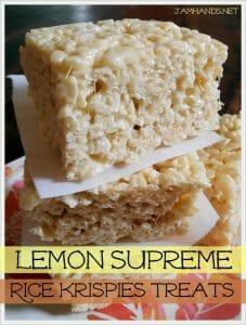 Lemon Supreme Rice Krispies Treats