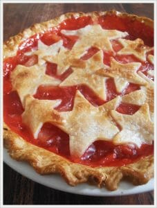 Red Hot Cinnamon Apple Pie with Vanilla Ice Cream