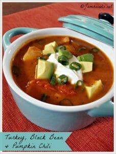 Turkey, Black Bean & Pumpkin Chili (Slow Cooker)