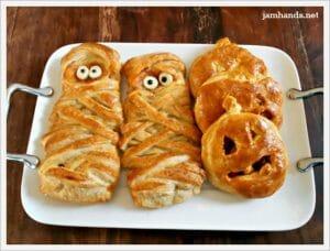 Halloweenie BBQ Cheese Pockets