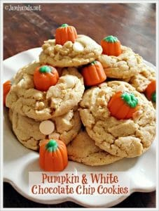 Pumpkin & White Chocolate Chip Cookies