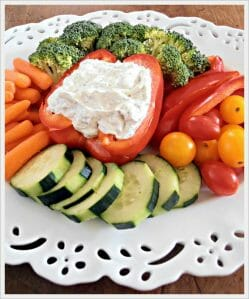 Dilly Dip + Vegetable Tray