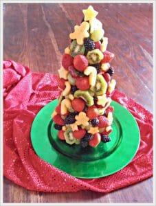 Christmas Tree Fruit Display