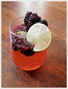 Blackberry Lime Cocktail