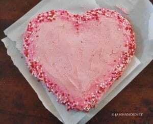 Valentine's Day Heart Cake (without using a heart pan)
