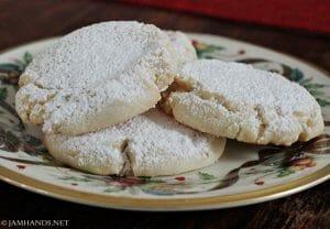 Soft Almond Pillow Cookies
