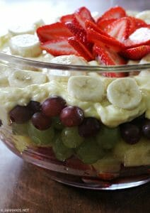 Fruit Trifle with Banana Cream Topping