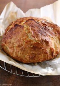 Sharp White Cheddar No Knead Bread