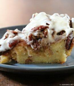 Eggnog Butter Pecan Bread Pudding