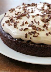 Chocolate Apricot Cake with Tiramisu Mascarpone Frosting
