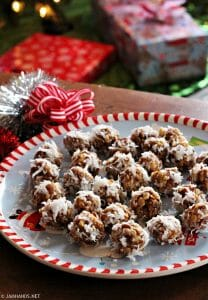 Date and Rice Krispies Balls Rolled in Coconut