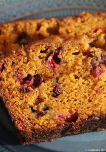 Libby's Ridiculously Moist Pumpkin Cranberry Bread