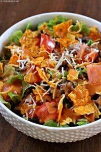 Doritos Taco Salad with Homemade French Dressing