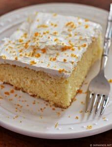 Triple Citrus Yellow Cake with Lemon Curd Frosting