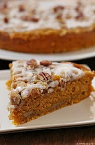 Moist Cinnamon Streusel Pumpkin Coffee Cake