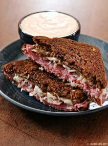 Reuben Sandwiches with Homemade Thousand Island Dressing