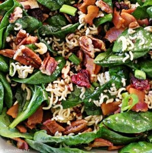 Crunchy Tossed Spinach Salad