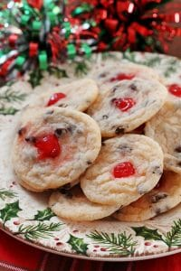 Cherry Amaretto Chocolate Chip Cookies