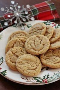 Soft & Chewy Rum Crinkle Cookies