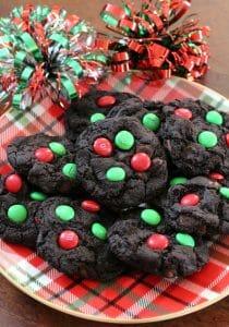 Dark Chocolate M&M Cookies