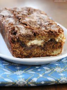 Cinnamon Swirl Cream Cheese Banana Bread