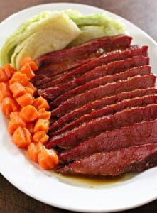 Glazed Corned Beef and Cabbage with Horseradish Cream Sauce