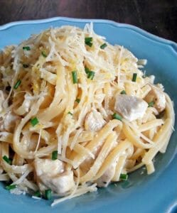 Lemon, Parmesan and Chicken Pasta