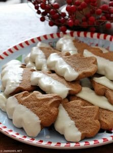 Soft Gingerbread Pudding Cookies Dipped in White Chocolate