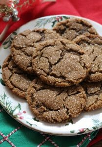 Sparkling Chewy Molasses Cookies