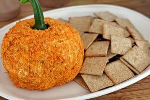 Doritos Salsa Cheeseball (Pumpkin Shaped)